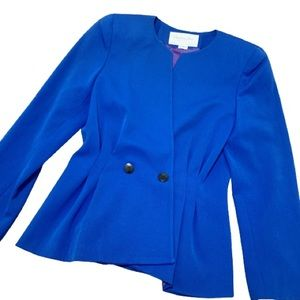 Christian Dior Vintage Blue Double Breasted Blazer